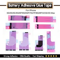 iphone klebeband großhandel-OEM Qualität Starke Haftung Batteriekleber Klebeband Streifen Aufkleber Ersatzteile Für iPhone X XS Max 8 7 6 5 4 Serie