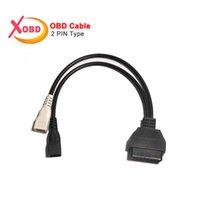 adaptador de diagnóstico vag venda por atacado-VAG 2Pin 2X2 a 16 Pin OBD2 Adaptador de Interface ELM327 Cabo Convert para Old vag Car Scanner Diagnostic Connector