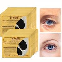 ingrosso rilievo del gel dell'occhio del collagene-Black Mask collagene Crystal Eye maschera di protezione del gel patch occhio nero per Borse cerchi Anti buio e asciutto rilievi dell'occhio Skin Care, 18 coppie = 1 scatola