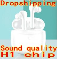 Wholesale white cell phones online – TWS H1 chip Generation Wireless Bluetooth Headphones earphones pop up siri rename GPS earphone Earbuds PK i12 i10 i9s i500 W1