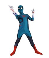 homem zentai venda por atacado-Deku Spider-man Aranha-Deku Halloween Party Bodysuit Trajes Cosplay Spiderman Lycra Superhero Macacões Terno Zentai
