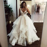 Wholesale wedding dress tank bodice for sale - Group buy 2019 Summer Beach A Line Wedding Dresses Sweetheart Tank Straps Ruched Puffy Princess Bridal Dress Floor Length Tulle Garden Bridal Gowns