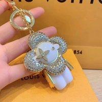 милые кольца с бриллиантами оптовых-Длинные цепочки Симпатичные алмаз эльф брелок Роскошный Брелок Брелок Робот Брелок Держатель Брелок Porte Clef Подарок Мужчины Женщины Сувениры M67378