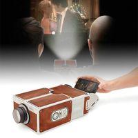 Wholesale smartphone phones for sale - Group buy DIY D Projector Cardboard Mini Smartphone Projector Light Novelty Adjustable Mobile Phone Projector Portable Cinema In A Box