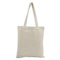 modèles de sacs à main en tissu achat en gros de-Supermarché durable Casual Large Handbags Sac à provisions en tissu Pochette de rangement en toile Motif solide pliable portatif réutilisable