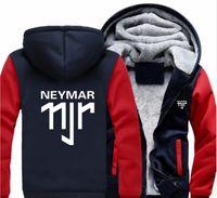 ingrosso tempo libero usa-Nuovo Inverno incappucciato Coppa del Mondo Neymar da Silva unisex felpa casual con cappuccio addensare felpate Velvet Coat Tempo libero Joker sportivo, formato Stati Uniti d'America