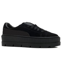 5a6bc43a49f8 Suede Women s Platform Casual Shoes Trainers Black White Red Leather Flat  Party Wedding Shoes Creepers Rihanna Girls Sneakers US 5.5-8.5