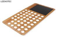 Wholesale free new laptops resale online - LIZENGTEC New Design Bamboo Laptop Stand Fit for All Laptop and Pad Max inch car