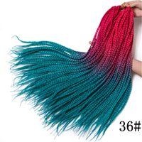 Wholesale 28 inch ombre braiding hair resale online - Top Quality Crochet braids inch box braid Roots pack Ombre Synthetic Braiding Hair extension Kanekalon Fiber Bulk braid