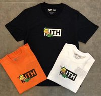 3d drôle achat en gros de-19ss KITH T Shirt Hommes Femmes Boîte Logo 1k: 1 Hip Hop Streetwear KITH Harajuku Tee Drôle De Haute Qualité 3D KITH T-shirt