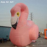 Wholesale fire birds resale online - Giant animal model inflatable flamingo deft designed fire bird and decoration for wedding party