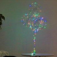 luzes led balões de plástico venda por atacado-Brinquedos bola LEVOU bobo bola transparente balão de plástico flexível durável balão de hélio led luz festa de casamento decoração de aniversário