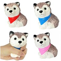 Wholesale husky toys online - Squishy Dog Toy Cute PU Husky Molding Foaming Simulation Slow Rebound Decompression Novelty Squeeze Toys Children Gift Hot Sale mb hh