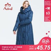 jaqueta para mulheres algodão azul cor venda por atacado-Astrid 2019 inverno nova chegada para baixo mulheres jaqueta roupas soltas qualidade outerwear cor azul de algodão grosso casaco de inverno