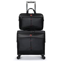 нейлоновые мешки оптовых-  luggage travel suitcase with handbag men women trolley luggage bag nylon 16 inch set black rolling