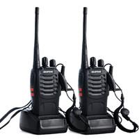 talkie von 888s großhandel-2pcs / lot BAOFENG BF-888S Walkie Talkie UHF Zweiwegradio Baofeng 888s UHF 400-470MHz 16CH Tragbarer Transceiver mit Hörmuschel