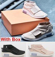 orta rahat ayakkabılar toptan satış-Kutu korkusuyla 1 Orta Moccasin Kutu sis Ile 1 Toptan Rahat Ayakkabılar Eğitmenler Kadın Clunky Sneaker