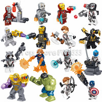 Wholesale batman toys for kids for sale - Group buy 16pcs Fit Figures Minifig Marvel Super Heroes Avengers Captain American Batman Mini Action Figures Building Blocks Toy For Kids Gif