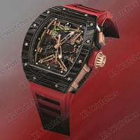 часы лотос оптовых-Мужские часы Топ-версия RM 50-01 LOTUS F1 TEAM бочковые часы с циферблатом с турбийоном из углеродного волокна, резиновый ремешок RM 50-01 с автоматическим механизмом A1-1