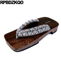 ingrosso sandali giapponesi di geta-Geta Size 46 Platform Sandals Summer Water Outdoor 2018 Diapositive Zoccoli giapponesi Impermeabili Scarpe Nice Slippers Uomo 45 Flip Flop