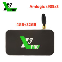 rj45 wifi groihandel-Android TV Box Ugoos X3 Pro Amlogic S905X3 LPDDR4 4GB 32GB 2.4G 5G WIFI LAN RJ45 1000M 4K Set-Top-Box Media Player