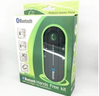 großes auto telefon großhandel-Große Förderung Sonnenblende Freisprecheinrichtung Bluetooth-Empfänger 4.1 Version Auto Sonnenblende Freisprecheinrichtung Bluetooth-Musikspieler