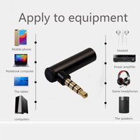 ingrosso adattatore per cuffie mobili-Connettore stereo da 90 gradi da 3,5 mm maschio a femmina ad angolo retto adattatore microfono jack stereo per cuffie tablet pc cellulare