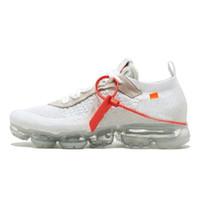 zapatos de salón tacón bajo al por mayor-Fábrica de venta directa 2018 Vapors of W Running Shoes Mujeres y hombres con caja de alta calidad Zapatillas blancas Zapatillas deportivas Senderismo Zapatillas