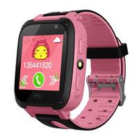 ingrosso guardare gsm sos-Kids Smart Watch 1.44 INCH Touch Screen GPRS LBS Posizione SOS chiamata Remote Monitor GSM Anti-Lost Watch per Kid
