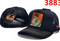 Wholesale man balls pictures resale online - 2019 new hats Dragon Ball anime character pictures High quality luxury Mesh adjustable baseball cap Men and women caps snapback Student hats