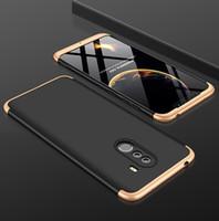 estuche de plástico xiaomi al por mayor-Estuche de protección completa de plástico duro 3 en 1 360 Xiaomi Mi 8 Lite Mi 8 Mi A1 A2 Funda antideslizante para PC Funda para Redmi Note 5 6 7 Pro