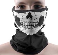 a máscara protege o motociclista venda por atacado-Máscaras de ciclismo Design Crânio Multi Função Bandana Esporte Esqui Motociclista Motociclista Máscaras Faciais