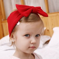 Wholesale infant girls head accessories for sale - Group buy New Colors Headband Newborn Toddler Baby Hair Single Layer Bows Band Kids Girl Big Bows Head Wraps Infant Headbands Hair Accessories