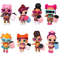 Wholesale gift toys resale online - 8pcs LOL DOLLS DIY wear clothes Bottle Girl lol Doll Baby Change with Glasses Action Figure Toys Kids Gift LOL toys for girls