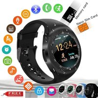 Wholesale kids wristwatches gps resale online - Smart Bracelet Y1 Bluetooth Smart Watch Pedometer Fitness Tracker Wristwatch Andriod Health Watches IOS huawei xiaomi