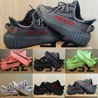 zebra shoes boy baby achat en gros de-Nouveaux Enfants Chaussures Argile V2 Chaussures De Course Zèbre Bébé Garçon Fille Toddler Entraîneur Beluga 2.0 Kanye West Baskets Réfléchissantes Enfants Chaussures De Sport
