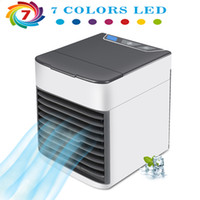 refrigeradores elétricos venda por atacado-Ventiladores de Ar de Refrigeração de Ar Elétrico Ventiladores Três Em Um Novo Verão Coolers 8 Estilos Características 7 Cores L-4