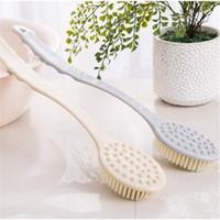Wholesale body care feet massager resale online - Long Handle Bath Brush Massager Body Brush Scrub Skin Care Shower Exfoliation Reach Feet Spong Bathroom Accessories