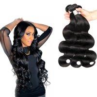 hermoso cabello tejido al por mayor-Hermosa armadura brasileña del pelo 3 paquetes Body Wave 100% sin procesar El cabello humano teje 8-30 pulgadas Bundles Virgin Hair Weave