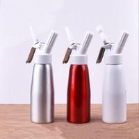 taze şişe toptan satış-Alüminyum Krem Gun Yemek Bar Su Şişeleri Drinkware Yemek Bar YENI 500 Ml Kırbaç Kahve Tatlı Taze Krem Tereyağı EEA292