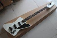 guitarra de cuerda thunderbird al por mayor-envío de la nueva calidad superior blanca Thunderbird 4 Cuerdas guitarras eléctricas bajo con EMG pick-up
