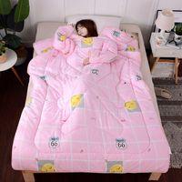 осеннее одеяло оптовых-зимние одеяла осень ленивый лоскутное одеяло с рукавами семья