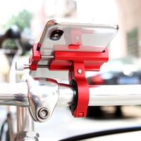 алюминиевые велосипедные рули оптовых-Алюминиевый сплав велосипедов телефон владельца Регулируемый дорожный велосипед Стенд Руль велосипеда мотоцикла гору Опорный кронштейн Аксессуары