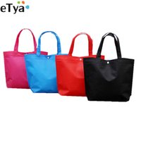 fallgeschäfte großhandel-eTya Folding Tote Einkaufstasche Frauen Männer Casual Eco Wiederverwendbare Einkaufstasche Fall Reise Feste Handtasche Shopper Taschen