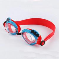 мультфильм плавать очки оптовых-Смешайте 40 стилей детские очки детские плавательные очки милый мультфильм животных очки водонепроницаемый анти-туман HD детские плавательные очки