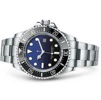 bezel habitante do mar venda por atacado-AAA Luxo Rolex Marca Assista Moldura Cerâmica Profunda SEA-Morador de Aço Inoxidável Mecânico Movimento Automático Mens Relógios Relógios De Pulso