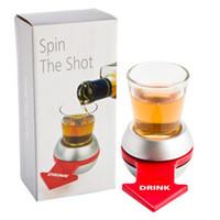 juego de objetos al por mayor-Herramientas de Spin The Shot Novelty Shot Drinking Game Bar con Spinning Wheel Funny Party Item Barware DHL 35pcs
