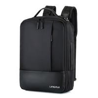 ingrosso sacchetto impermeabile di alta qualità-2018 di lusso in nylon impermeabile uomini d'affari zaino di alta qualità zaino in nylon portatile borsa a tracolla multipla da viaggio maschile