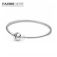 Wholesale flowered silver bracelet bangle online - FAHMI Sterling Silver New Limited Edition One In A Million Bracelet Bangle Valentine s Day Fashion Gift