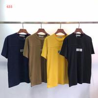 mulheres camisola do exército venda por atacado-Novo 4 Cores de Moda dos homens de Manga Curta Tee Hip Hop Moletons Roupas Casuais Preto Amarelo Azul Marinho Do Exército Verde Mulheres T-shirt # 633